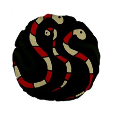 Red snakes Standard 15  Premium Round Cushions