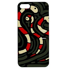 Red snakes Apple iPhone 5 Hardshell Case with Stand