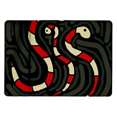 Red snakes Samsung Galaxy Tab 10.1  P7500 Flip Case