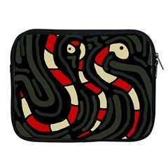 Red snakes Apple iPad 2/3/4 Zipper Cases