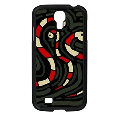 Red snakes Samsung Galaxy S4 I9500/ I9505 Case (Black)