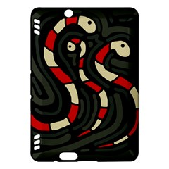 Red snakes Kindle Fire HDX Hardshell Case