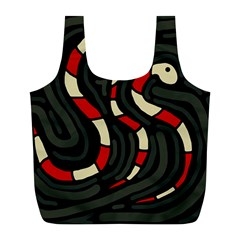 Red snakes Full Print Recycle Bags (L)