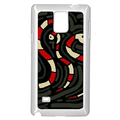 Red snakes Samsung Galaxy Note 4 Case (White)