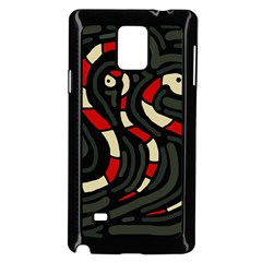 Red snakes Samsung Galaxy Note 4 Case (Black)