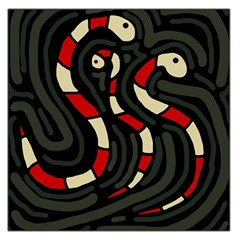 Red snakes Large Satin Scarf (Square)