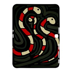 Red snakes Samsung Galaxy Tab 4 (10.1 ) Hardshell Case