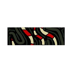 Red snakes Satin Scarf (Oblong)