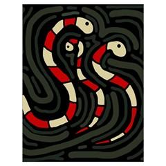Red snakes Drawstring Bag (Large)