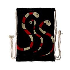 Red snakes Drawstring Bag (Small)