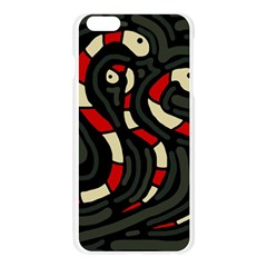 Red snakes Apple Seamless iPhone 6 Plus/6S Plus Case (Transparent)