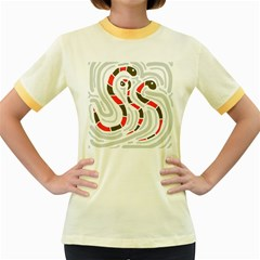 Snakes family Women s Fitted Ringer T-Shirts