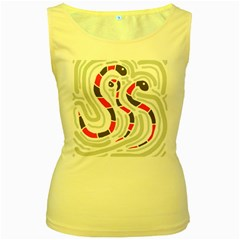 Snakes family Women s Yellow Tank Top