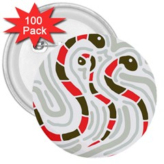 Snakes family 3  Buttons (100 pack)