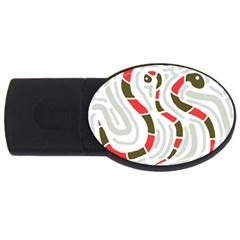 Snakes family USB Flash Drive Oval (1 GB)