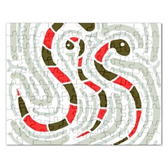Snakes family Rectangular Jigsaw Puzzl