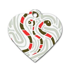 Snakes family Dog Tag Heart (One Side)