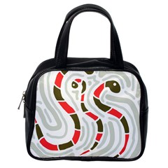 Snakes family Classic Handbags (One Side)