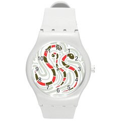 Snakes family Round Plastic Sport Watch (M)