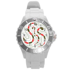 Snakes family Round Plastic Sport Watch (L)