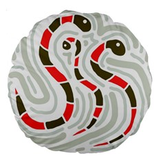 Snakes family Large 18  Premium Round Cushions