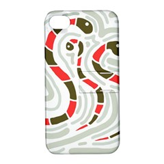 Snakes family Apple iPhone 4/4S Hardshell Case with Stand