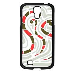 Snakes family Samsung Galaxy S4 I9500/ I9505 Case (Black)