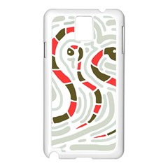 Snakes family Samsung Galaxy Note 3 N9005 Case (White)