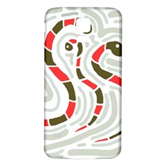 Snakes family Samsung Galaxy S5 Back Case (White)
