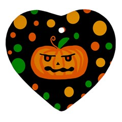 Halloween pumpkin Ornament (Heart)