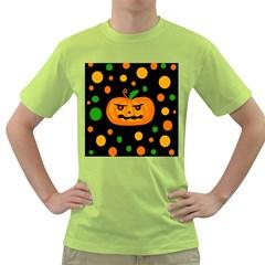 Halloween pumpkin Green T-Shirt