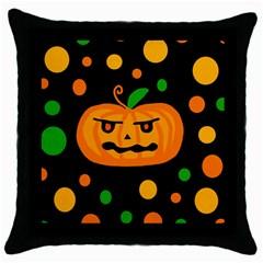 Halloween pumpkin Throw Pillow Case (Black)