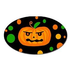 Halloween pumpkin Oval Magnet
