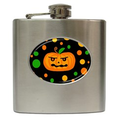 Halloween pumpkin Hip Flask (6 oz)