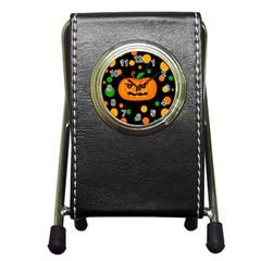 Halloween pumpkin Pen Holder Desk Clocks