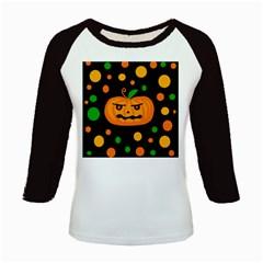 Halloween pumpkin Kids Baseball Jerseys