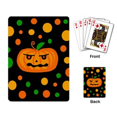 Halloween pumpkin Playing Card