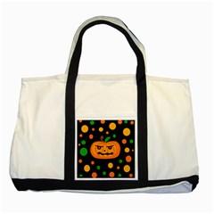Halloween pumpkin Two Tone Tote Bag