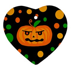 Halloween pumpkin Heart Ornament (2 Sides)