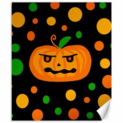 Halloween pumpkin Canvas 8  x 10