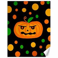 Halloween pumpkin Canvas 18  x 24