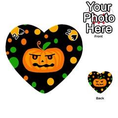 Halloween pumpkin Playing Cards 54 (Heart)