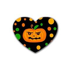 Halloween pumpkin Rubber Coaster (Heart)