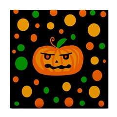 Halloween pumpkin Face Towel