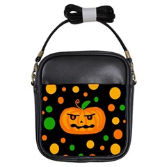 Halloween pumpkin Girls Sling Bags