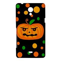 Halloween pumpkin Sony Xperia T