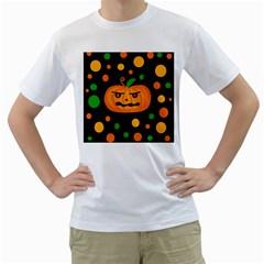 Halloween pumpkin Men s T-Shirt (White)