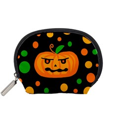 Halloween pumpkin Accessory Pouches (Small)