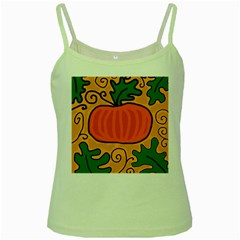 Thanksgiving pumpkin Green Spaghetti Tank