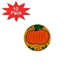 Thanksgiving pumpkin 1  Mini Buttons (10 pack)